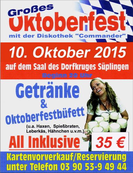 Oktoberfest Süplingen 2015-DJ Commander